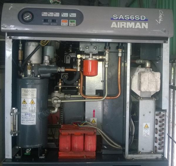 máy nén khí airman 5.5 kW nhật bãi