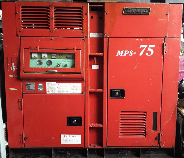 bán máy nén khí trục vít cũ Denyo 75 kW