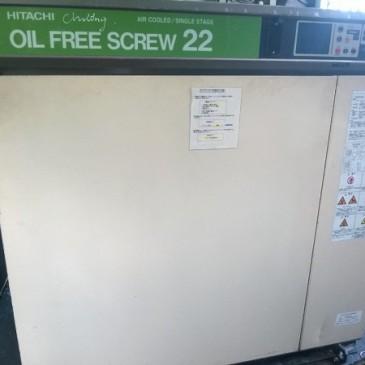 Máy nén khí trục vít Hitachi không dầu 22 kW