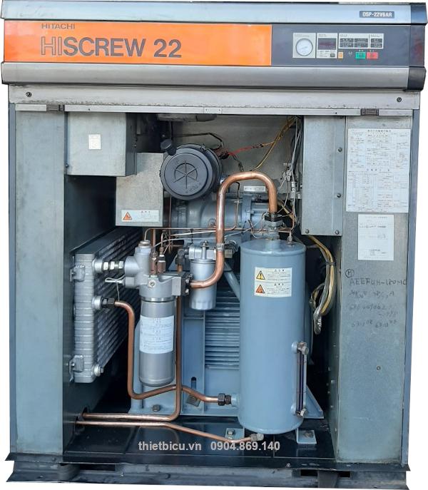 máy nén khí đời cao 22 kw cũ Nhật bản có biến tần và sấy khí tách ẩm