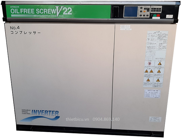 bán máy nén khí trục vít không dầu 22 kw cũ đời cao dsp 22var61