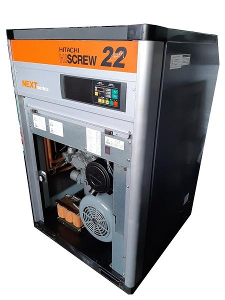 bán máy nén khí cũ Hitachi 22 kw đời cao có sấy dryer hàng Nhật Bản
