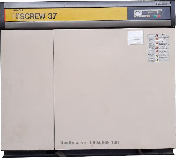 bán máy nén khí cũ Hitachi 37 kW có sấy khí used air compressor 50 Hp