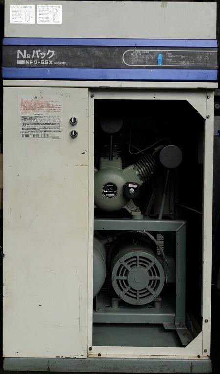 máy nén khí nhật bản công suất 5.5 kW dùng cho sơn tĩnh điện