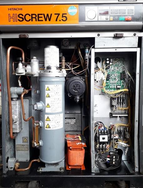 bán máy nén khí cũ trục vít 7.5 kw có tách ẩm