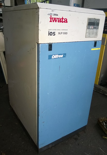 máy nén khí trục vít không dầu Iwata 5.5 kW