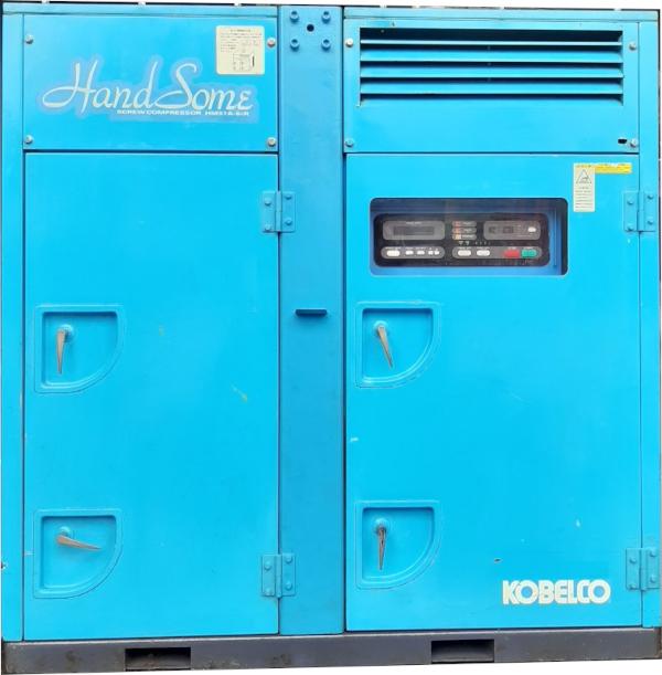 bán máy nén khí trục vít Kobelco Handsome 37 kw 50 Hp làm mát bằng gió máy công trường, ngoài trời