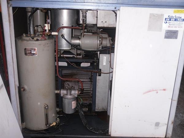 bán máy nén khí cũ trục vít Kobelco 37kw, hàng nhật bãi