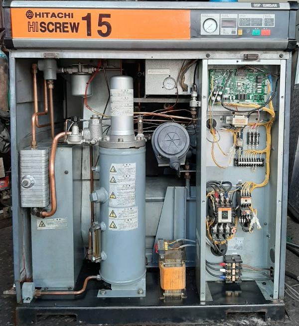 bán máy nén khí cũ đời cao Hitachi 15 kw