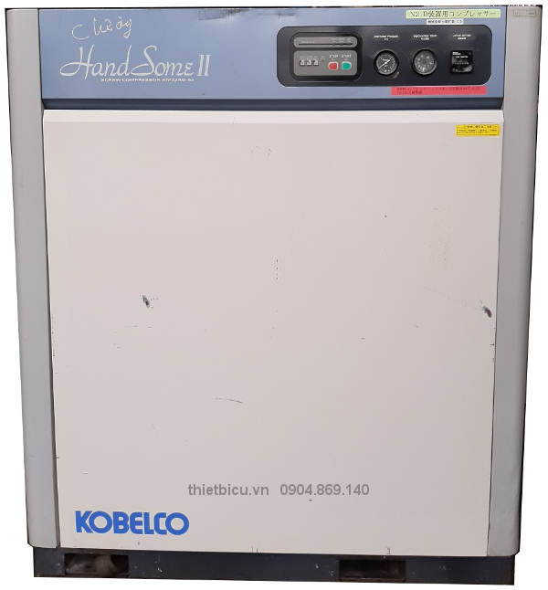 bán máy nén khí cũ Kobelco 22 kw có sấy khí