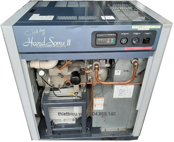 máy nén khí Kobelco 22 kw giá rẻ, máy nén khí có sấy khí