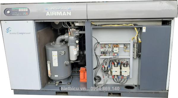 máy nén khí hokuetsu used air compressor sas75sd 75 kw 100 hp