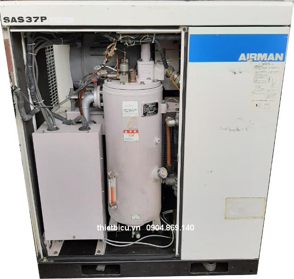 máy nén khí cũ giá rẻ Nhật bãi 37 kW 50 Hp khoan đá, khoan bê tông