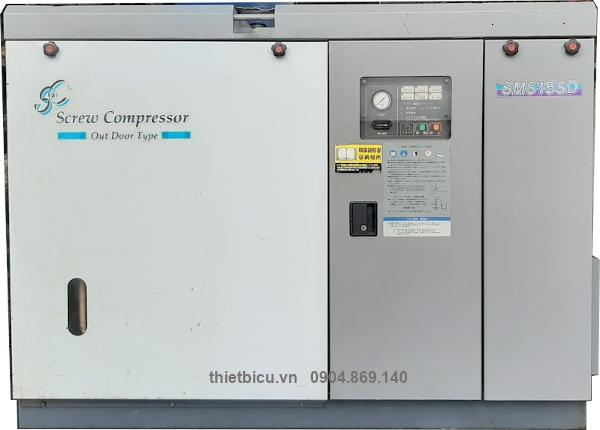 bán máy nén khí cũ Nhật bản đời cao Airman SMS15SD 15 kw có sấy khí tách ẩm