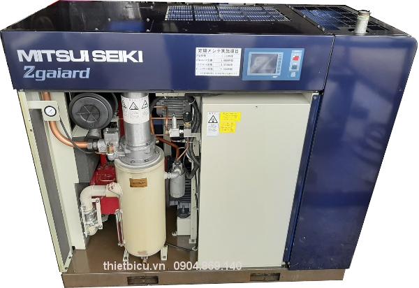bán máy nén khí cũ Mitsui seiki 37 kw có hệ thống tách ẩm đời cao, máy ngâm dầu