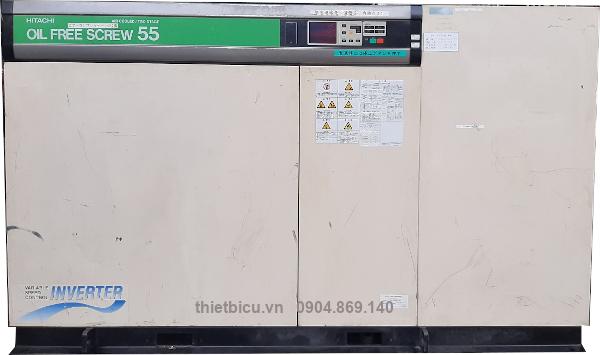 bán máy nén khí 55 kw không dầu máy trục vít Hitachi hàng Nhật Bản
