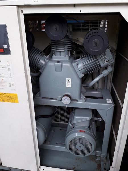 máy nén khí cũ không dầu Hitachi 11 kw có sấy