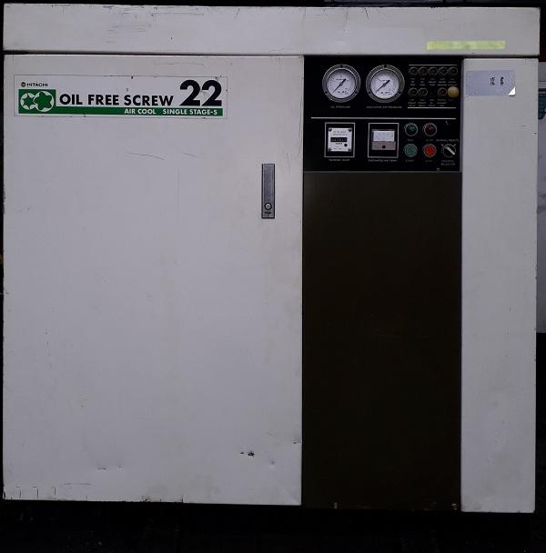 bán máy nén khí trục vít cũ loại không dầu oilfree công suất 22 kw