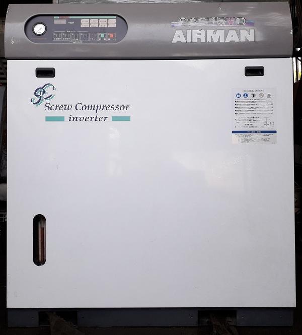 bán máy nén khí trục vít sử dụng biến tần Airman 15 kw