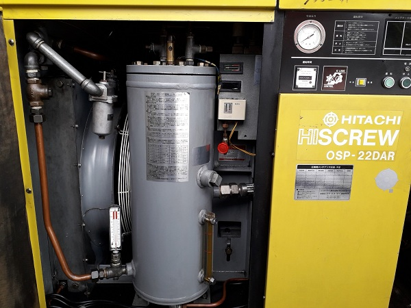 bán máy nén khí trục vít ngâm dầu 22 kw Hitachi