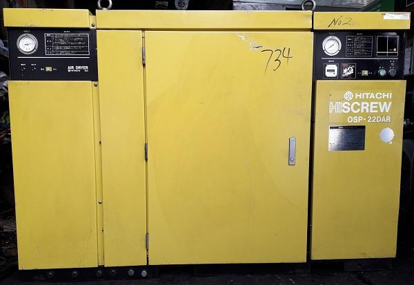 máy nén khí cũ Nhật bản Hitachi 22 kw