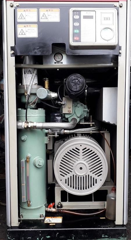 bán máy nén khí cũ IHI 11 kw có tách ẩm kèm theo máy Nhật bãi