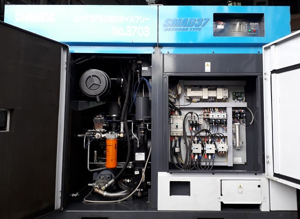 bán máy nén khí trục vít không dầu Airman nhập khẩu Nhật Bản, giá rẻ 37 kw airman smad37