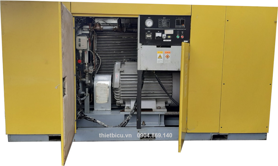 japan used air compressor bán máy nén khí Nhật bãi công suất 110 kW 150 Hp hàng nội địa nhật bản