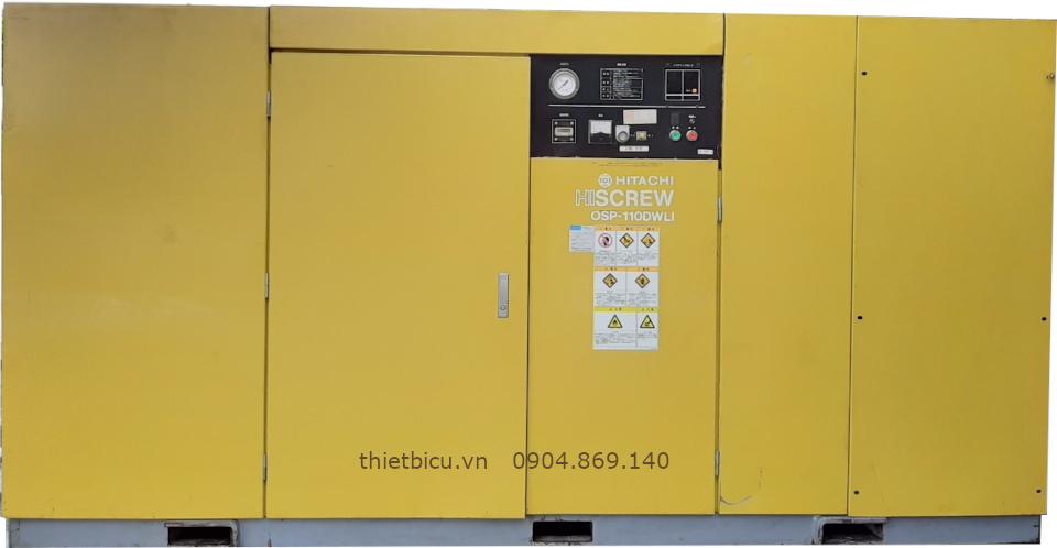 bán máy nén khí cũ nhập khẩu Nhật Bản công suất 110 kW 150 Hp hàng Nhật Bản