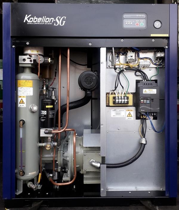 bán máy nén khí trục vít cũ, công suất 7.5 kw