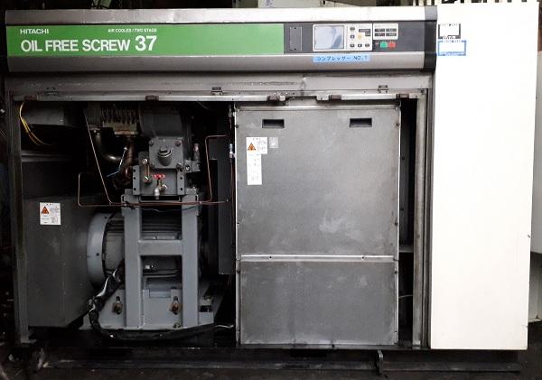 bán máy nén khí trục vít không dầu Hitachi 37 kW
