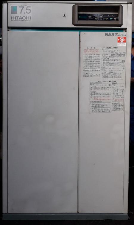 bán máy nén khí cũ không dầu Hitachi next series 7.5 kW