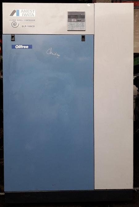 bán máy nén khí trục vít không dầu Iwata 15 kw slp 15cd