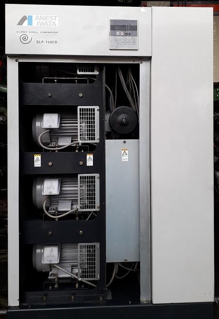 máy nén khí không dầu anest iwata oilfree scroll slp 15cd