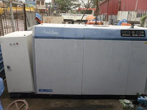 máy nén khí trục vít kobelco hiệu handsome công suất 75kw
