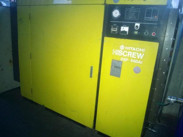 bán các loại máy nén khí trục vít Hitachi 55 kW 75 Hp