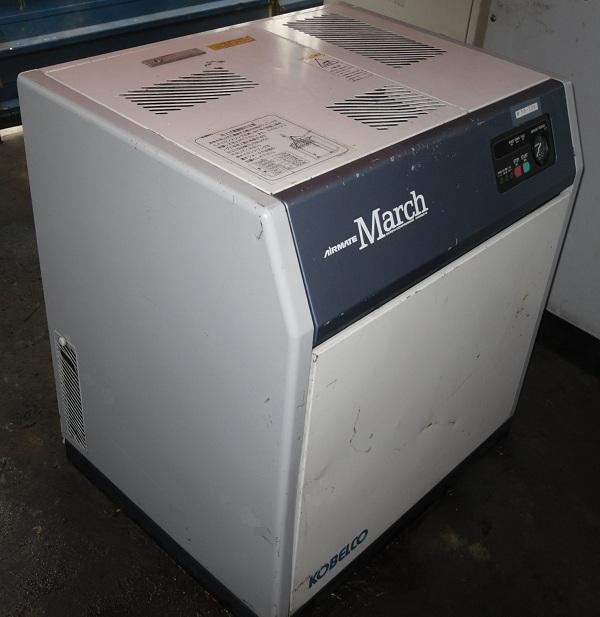 Bán máy nén khí trục vít cũ nhập khẩu nhật bản công suất 5.5 kw, 7.5 Hp hãng Kobelco