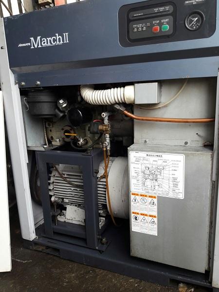 bán máy nén khí trục vít Kobelco Airmate March II công suất 11 kW có tách ẩm
