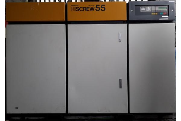 bán máy nén khí trục vít cũ Hitachi hiscrew air cooled 55 kw hàng Nhật Bản