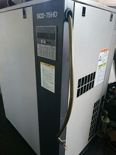 Máy nén khí trục vít Iwata AtlasCopco 7.5 kW SCD-75HD may nen khi truc vit cu