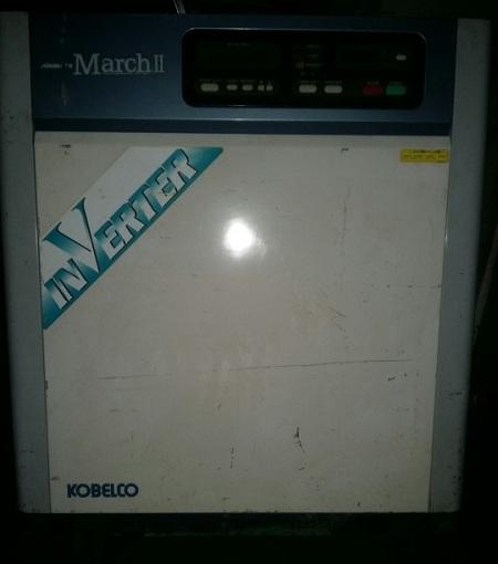 bán máy nén khí trục vít Kobelco Inverter 11 kw hàng Nhật Bản