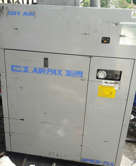 bán máy nén khí piston Meiji 7.5 kW có tách ẩm