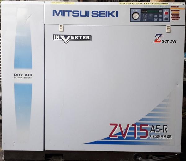 bán máy nén khí trục vít cũ chạy biến tần mitsui seiki 7.5 kw