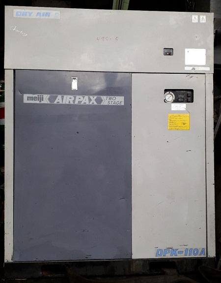 bán máy nén khí cũ Meiji 11 kW hàng Nhật Bản