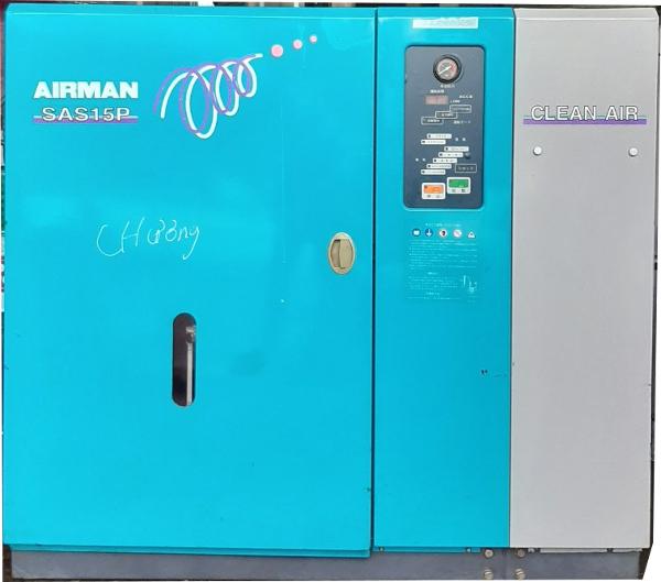 bán máy nén khí cũ Airma sas15p có sấy khí