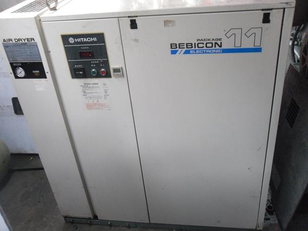 bán máy nén khí cũ Hitachi 11 kw có dryer