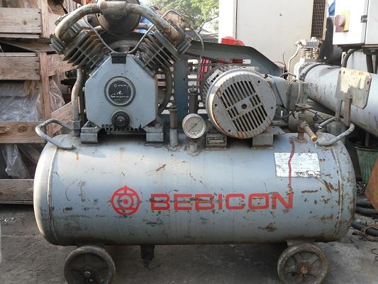 Máy nén khí bebicon cũ công suất 1.5Kw, may nen khi nhat ban, may nen khi cu