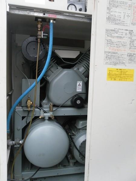 bán máy nén khí cũ Hitachi không dầu công suất 7.5kw có tách ẩm