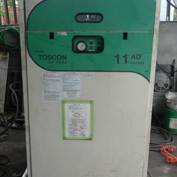 Máy nén khí cũ không dầu Toshiba 11 kw