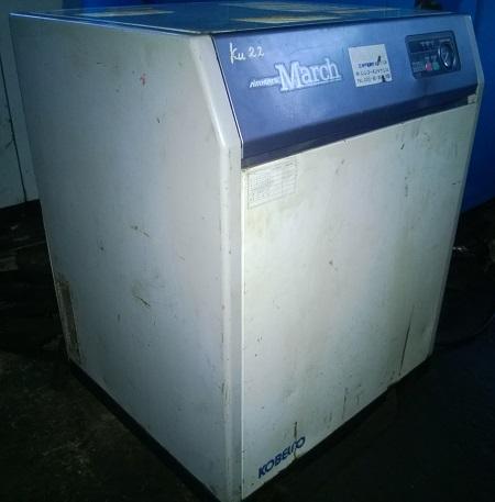 máy nén khí trục vít cũ 15 Hp có tách ẩm